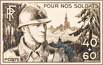 For Our Soldiers Stamp Art Print