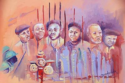 Painting - For Our Tomorrow by Oyoroko Ken ochuko