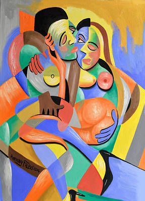 Women Together Painting - For Play by Anthony Falbo