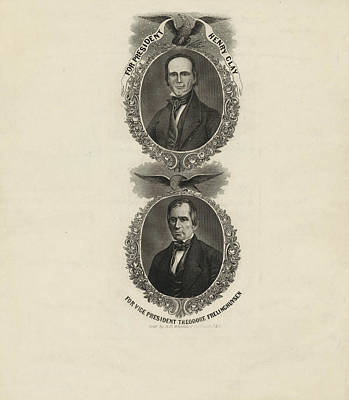 Clay Drawing - For President, Henry Clay. For Vice President by Litz Collection