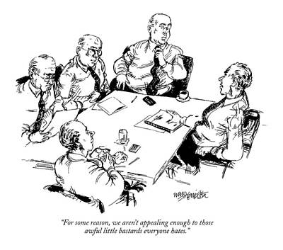 Boardroom Drawing - For Some Reason by William Hamilton