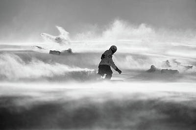 Snowboarding Photograph - For Strong Only... by Peter Svoboda