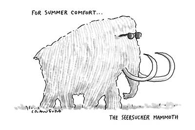 Sunglasses Drawing - For Summer Comfort...the Seersucker Mammoth: by Michael Crawford
