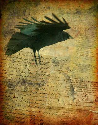 American Crow Digital Art - For The Ages by Gothicrow Images