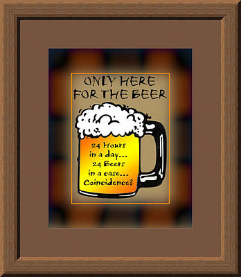 Alchol Photograph - For The Beer by Daryl Macintyre