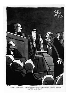 For The Fourth Time Art Print by Peter Arno