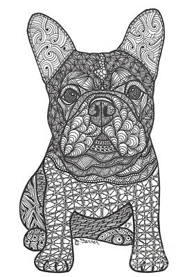 Drawing - For The Love - French Bulldog by Dianne Ferrer