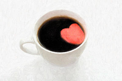 For The Love Of Coffee Art Print by Linda Matlow