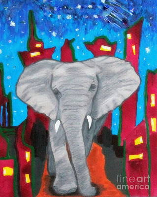 For The Love Of Elephants Art Print