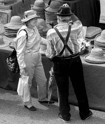 Photograph - For The Love Of Hats And Each Other by Christy Usilton