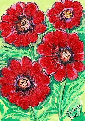 Painting - For The Love Of Poppies by Ecinja Art Works