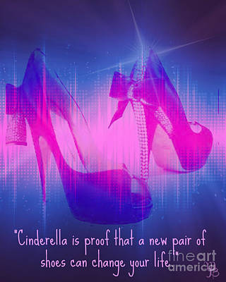 Digital Art - For The Shoe-aholic  by Mindy Bench