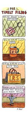 For Timely Filing Art Print by Roz Chast