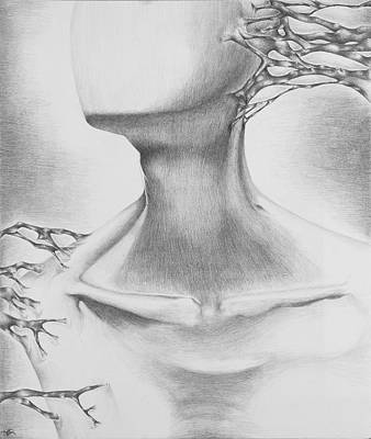 Overcoming Drawing - Forbearing An Everlasting..... by Amy Elizabeth  Quirk