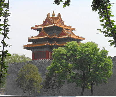 Forbidden City Building 3 Art Print by Kay Gilley