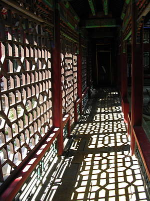 Keith Richards - Forbidden City Passage Beijing China by Jacqueline M Lewis