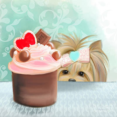 Puppies Mixed Media - Forbidden Cupcake by Catia Cho