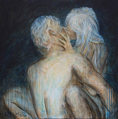 Painting - Forbidden Love - Erotica by Nik Helbig