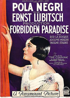 Pola Negri Photograph - Forbidden Paradise, Pola Negri by Everett