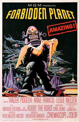 Outer Space Mixed Media - Forbidden Planet 1956 by Presented By American Classic Art