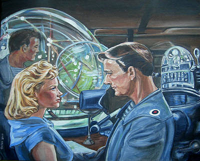 1950s Movies Painting - Forbidden Planet by Bryan Bustard