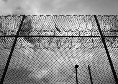 Photograph - Forbidding Razor Wire Fence by John Orsbun
