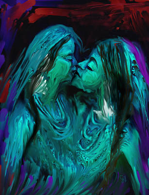 Making Love Digital Art - Forbiden Love In India by Shubnum Gill