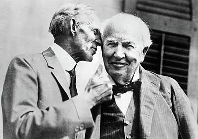 Photograph - Ford And Edison, C1930 by Granger