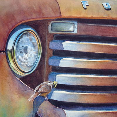Rusty Truck Painting - Ford And Wren by Greg and Linda Halom
