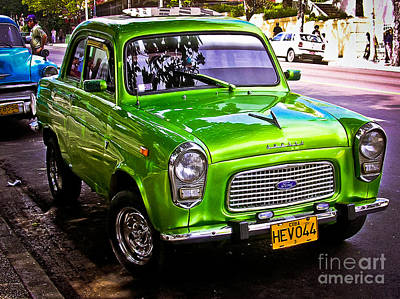 Photograph - Ford Anglia At La Habana - Cuba by Carlos Alkmin