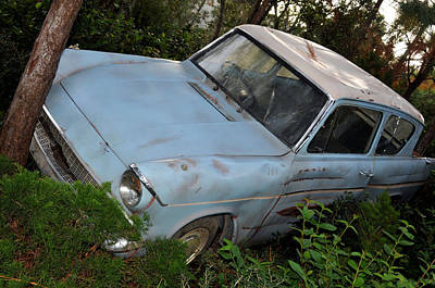 Photograph - Ford Anglia by Rebecca Parker