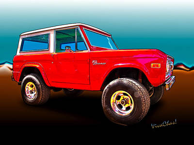 Ford Bronco Classic From Vivachas Hot Rod Art Art Print