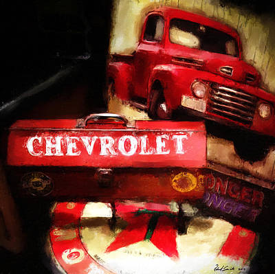 Ford Chevrolet Art Print by Robert Smith