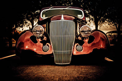 Ford Custom V8 Photograph - Ford Coupe Hotrod by motography aka Phil Clark