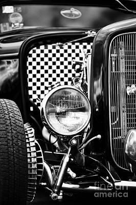 Ford Dragster Monochrome Art Print