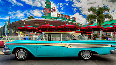 American Graffiti Photograph - Ford Edsel Classic by Bill Tiepelman