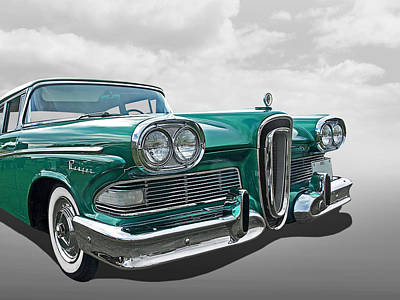 Photograph - Ford Edsel Ranger 1958 by Gill Billington