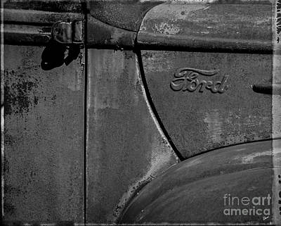 Photograph - Ford Emblem  by Alana Ranney