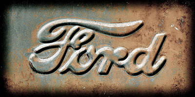 Photograph - Ford Emblem by Athena Mckinzie