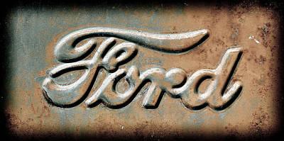 Photograph - Ford Emblem by Athena Mckinzie