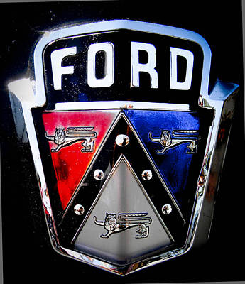 Photograph - Ford Emblem by Christy Usilton