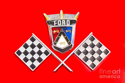 Ford Emblem Art Print by Jerry Fornarotto