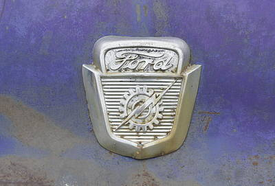 Photograph - Ford Emblem by Laurie Perry