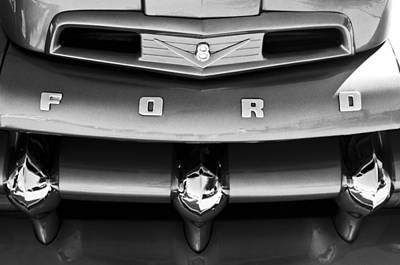 Photograph - Ford F-1 Pickup Truck Grille Emblem by Jill Reger