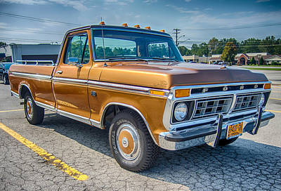 Photograph - Ford F-100 7p00531h by Guy Whiteley