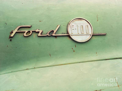 Ford F-100 Art Print by Priska Wettstein
