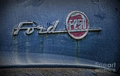 Photograph - Ford F-250 Emblem by Phil Cardamone