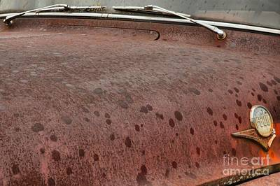 Photograph - Ford F-600 Rusty Hood by Adam Jewell