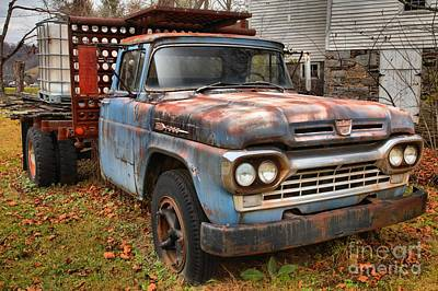 Photograph - Ford F-600 Waiting For A Tow by Adam Jewell
