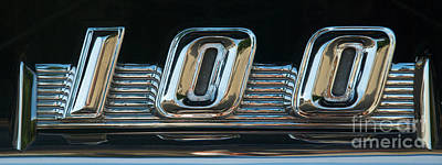 Photograph - Ford F100 Logo by Mark Dodd